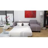 Canape - Sofa - Divan Canape d'angle reversible convertible KULMA 3 places - 206x146x70 cm - Tissu - Gris