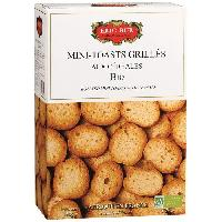 Canapes - Toasts ERIC BUR Mini Toast Céreales Biscuit Bio 150g