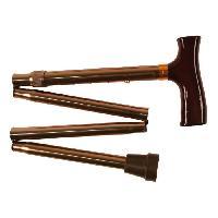 Canne - Bequille - Deambulateur - Rollator Canne Derby pliable en 4 et reglable - Bronze