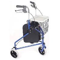 Canne - Bequille - Deambulateur - Rollator Déambulateur 3 roues AUTONOMIE ET BIEN eTRE TMI 6182 - Pliables avec housse et panier - Aucune