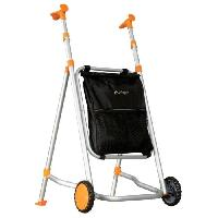 Canne - Bequille - Deambulateur - Rollator Deambulateur AIRGO Euro - Ultra-leger - Poignees ergonomiques - Coloris orange