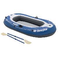Canoe SEVYLOR Bateau Gonflable Caravelle KK65 Kit - 2 places - Bleu et Blanc