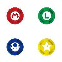 Capuchon Stick Manette Caps silicone Mario pour Nintendo Switch - Hori