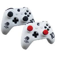 Capuchon Stick Manette Housse de protection Blanche en silicone pour manette Xbox One. Xbox One X