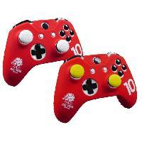 Capuchon Stick Manette Housse de protection Rouge en silicone pour manette Xbox One. Xbox One X