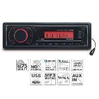 Car Audio Autoradio 1DIN USBSD - tuner FM AUX Bluetooth WMAMP3 - Caliber