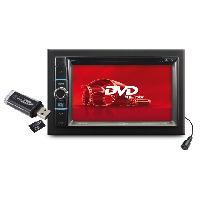 Car Audio Autoradio DVDUSBSDAUX - tuner FMAM - Bluetooth - AV input - compatible CAV Caliber