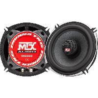Car Audio MTX TX650C Haut-parleurs coaxiaux 13cm 2 voies 80W RMS 4O châssis alu tweeter néodyme dôme soie bobine TSV TIL