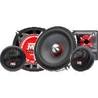 Car Audio MTX TX650S Haut-parleurs Kit 13cm 2 voies 80W RMS 4O châssis alu tweeter néodyme dôme soie bobine TSV TIL