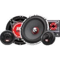 Car Audio MTX TX665S Haut-parleurs Kit 16.5cm 2 voies 90W RMS 4O châssis alu tweeter néodyme dôme soie bobine TSV TIL