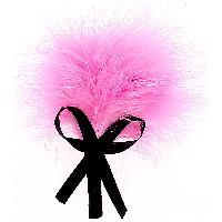 Caresser Plumeau rose sur tige avec noeud en satin noir