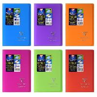 Carnet De Notes - Carnet De Bord CLAIREFONTAINE Koverbook Carnet piqure avec rabats 96 pages - 110 x 170 mm - 5 x 5 papier PEFC 90 g - 6 couleurs assorties