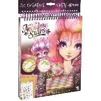 Carnet De Notes - Carnet De Bord NEBULOUS STARS Carnet de croquis créatifs - 80 pochoirs - 300 autocollants - 10 couleurs - Educa