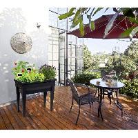 Carre Potager - Table Potagere EDA Espace potager avec table City Veg&Table - 73 x 38.5 x H 68 cm - 57 L - Gris anthracite