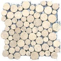 Carrelage - Plaquette De Parement - Brique De Verre - Decor - Plinthe Carrelage GALET BUBBLE BLANC 30X30 CM