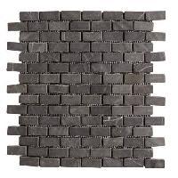 Carrelage - Plaquette De Parement - Brique De Verre - Decor - Plinthe Carrelage Galet Batako Marbre gris - 30 x 30 cm