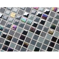 Carrelage - Plaquette De Parement - Brique De Verre - Decor - Plinthe Carrelage Listel Iris Noir - 5 x 30 cm