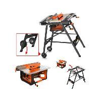 Carrelette Atelier Stationnaire FT7202F2 - 720 W - 200 mm - Orange et noir