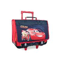 Cartable CARS Trolley 2 compartiments - Primaire - Garcon - 41 cm - rouge