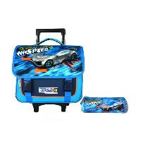 Cartable HOT WHEELS Cartable a Roulettes 38 cm + Trousses - Aucune