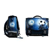 Cartable OLYMPIQUE DE MARSEILLE Cartable - 2 Compartiments - Primaire - College - 41 cm - Bleu - Enfant Garcon