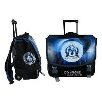 Cartable OLYMPIQUE DE MARSEILLE Cartable a Roulette - 2 Compartiments - Primaire - College - 41 cm - Bleu - Enfant Garcon