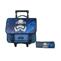 Cartable STAR WARS Cartable a Roulettes 38 cm + Trousses - Diesel Black Gold