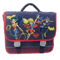 Cartable SUPER HERO GIRLS Cartable 2 compartiments - Primaire - Fille - Bleu - 38 cm