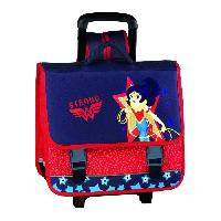 Cartable SUPER HERO GRILS Cartable 3 compartiments - Primaire - Fille - Bleu - 41 cm