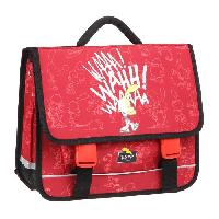 Cartable TITEUF Cartable - 2 Compartiments - 38 cm - Rouge - Primaire - Enfant Garcon
