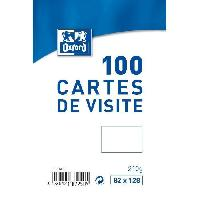 Carte - Carte De Visite 100 Cartes de visite - 12.8 cm x 8.2 cm x 2.8 cm - Blanc