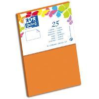 Carte - Carte De Visite 25 Cartes - 12.8 cm x 8.2 cm x 0.7 cm - 240g - Orange