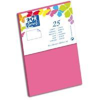 Carte - Carte De Visite 25 Cartes - 12.8 cm x 8.2 cm x 0.7 cm - 240g - Rose