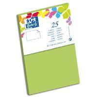 Carte - Carte De Visite 25 Cartes - 12.8 cm x 8.2 cm x 0.7 cm - 240g - Vert