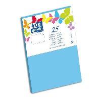 Carte - Carte De Visite 25 Cartes - 15 cm x 10 cm x 0.7 cm - 240g - Bleu Lagon