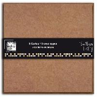Carte - Carte De Visite D.I.Y WITH TOGA Pack de 5 Doubles Cartes Enveloppes Kraft 15x15