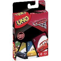 Carte De Jeu - Porte-carte De Jeu -cahier Range-carte De Jeu UNO - Cars 3 - Jeu de Cartes - Mattel