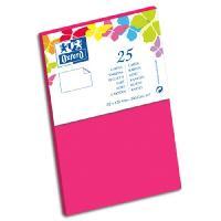 Carte De Visite 25 Cartes de visite - 12.8 cm x 8.2 cm x 0.8 cm - 240g - Fuschia