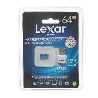 Carte Memoire - Memoire Flash Carte microSD + SD - 64GB