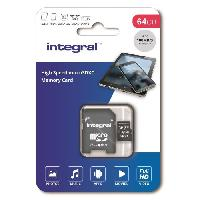 Carte Memoire - Memoire Flash INTEGRAL MEMORY Micro SDXC 64GB Haute Vitesse 100MB/s de vitesse de transfert