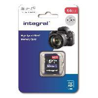 Carte Memoire - Memoire Flash INTEGRAL MEMORY V10 Class 10 UHS-I U1 Carte SDXC 64GB
