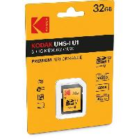 Carte Memoire - Memoire Flash KODAK UHS1 U1 Premium Carte mémoire SDHC - 32 GB