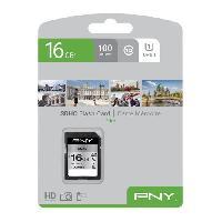 Carte Memoire - Memoire Flash PNY Carte mémoire SD 16Go Elite C10 U1 Platzangst
