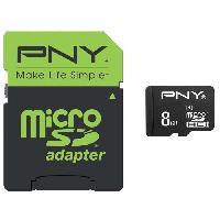 Carte Memoire - Memoire Flash PNY Performance Carte mémoire Micro SDHC 8 Go Classe 10 - 2015