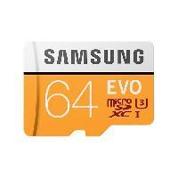 Carte Memoire - Memoire Flash Samsung Carte Micro SD Adapt SD Evo 64Go