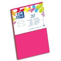 Carterie - Correspondance 20 Enveloppes - 14 cm x 9 cm x 1.5 cm - 120g - Fuschia