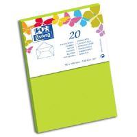 Carterie - Correspondance 20 Enveloppes - 14 cm x 9 cm x 1.5 cm - 120g - Vert