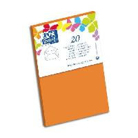 Carterie - Correspondance 20 Enveloppes gommee - 14 cm x 9 cm x 1.5 cm - 120g - Orange