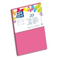 Carterie - Correspondance 20 Enveloppes gommee - 14 cm x 9 cm x 1.5 cm - 120g - Rose