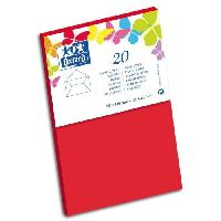 Carterie - Correspondance 20 Enveloppes gommee - 14 cm x 9 cm x 1.5 cm - 120g - Rouge